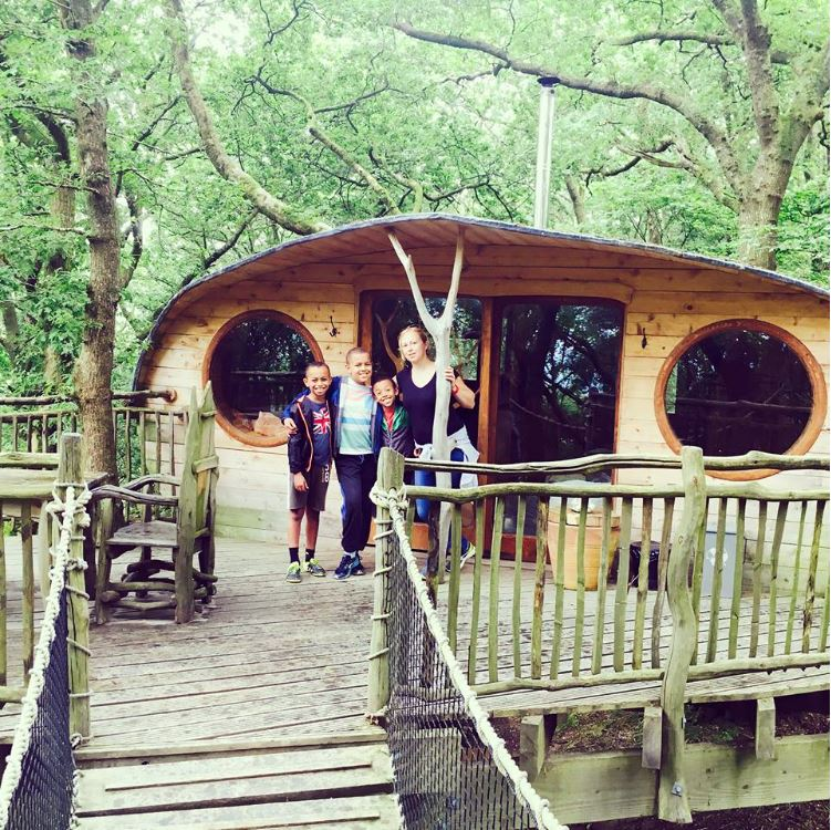 outside Living Room Treehouses in North Wales