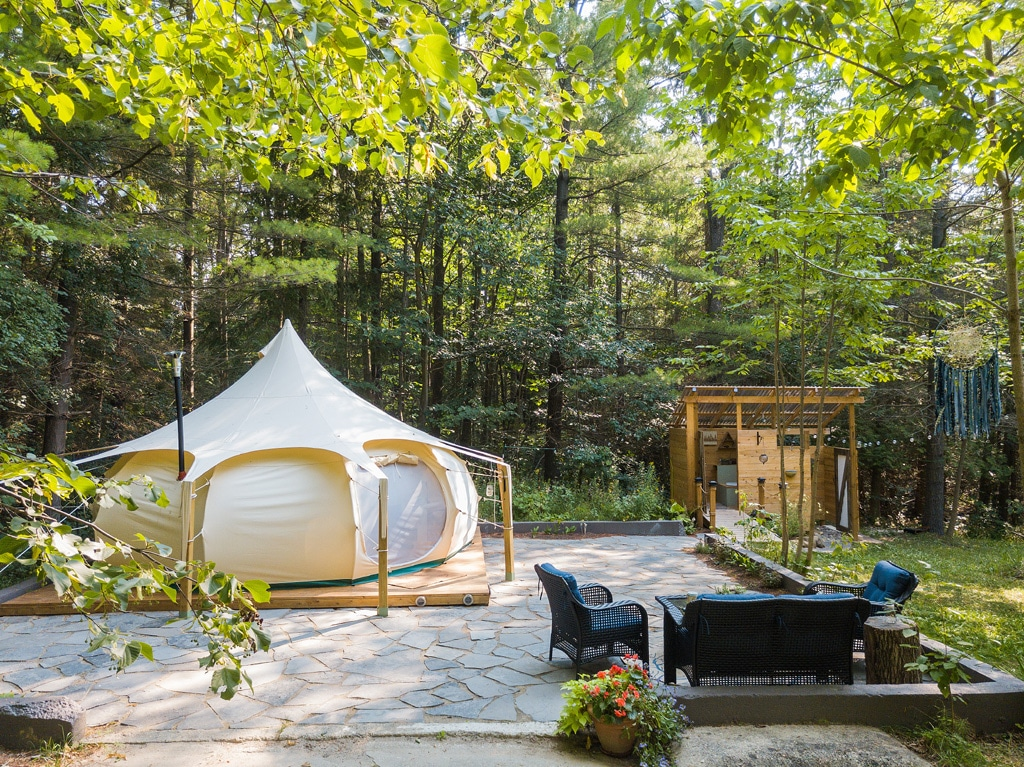 glamping in forest with own facilities