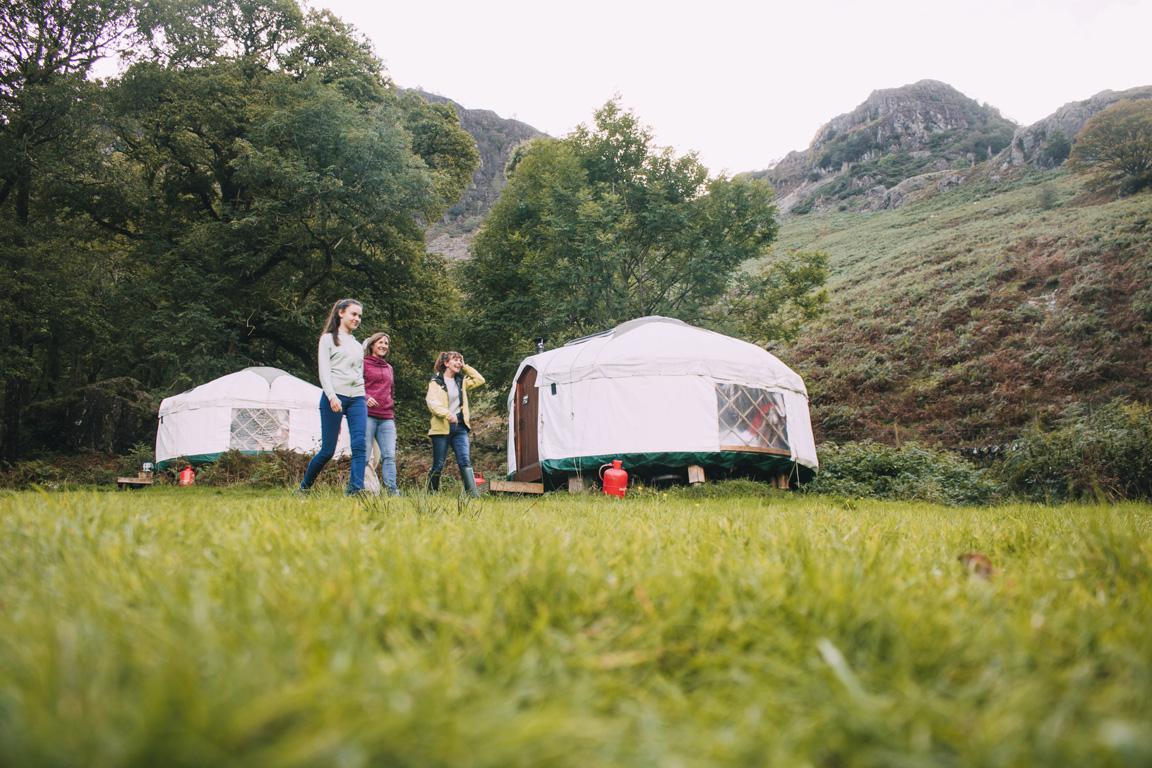 family yurt camping