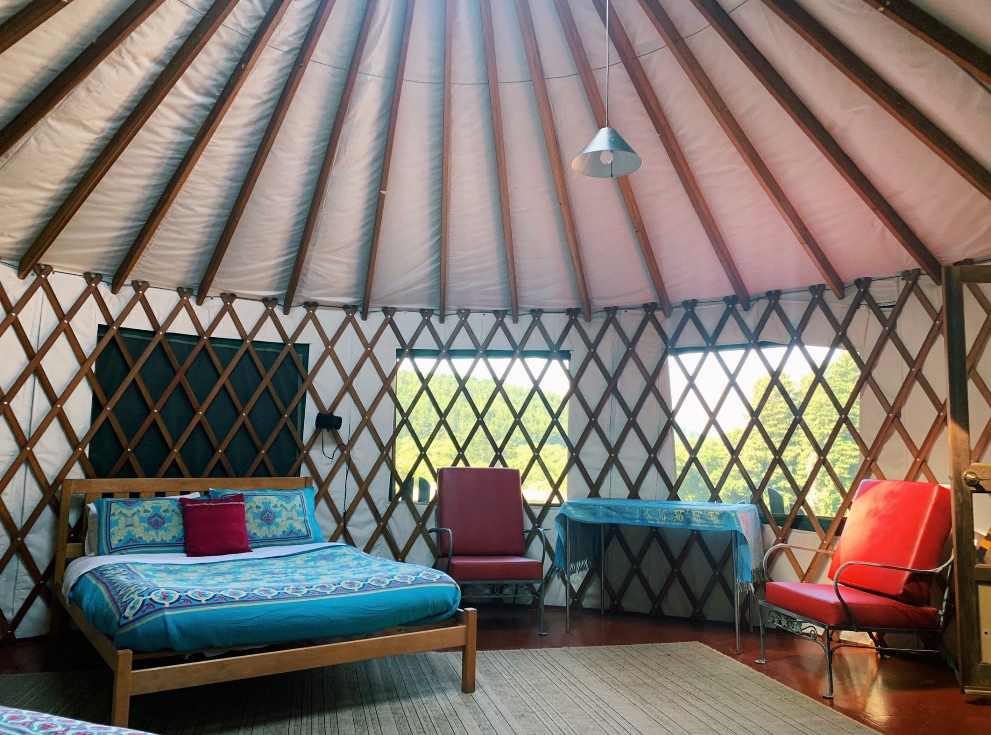 Inside of Yurt by Abby Stoner Oz Farm
