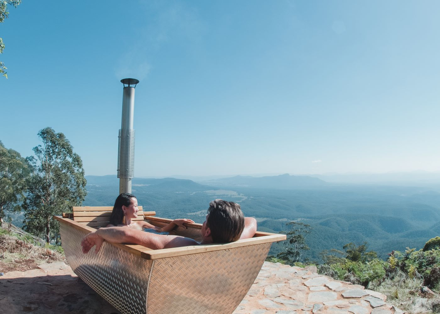 Woodfired Bathtub at Bubbletent Australia